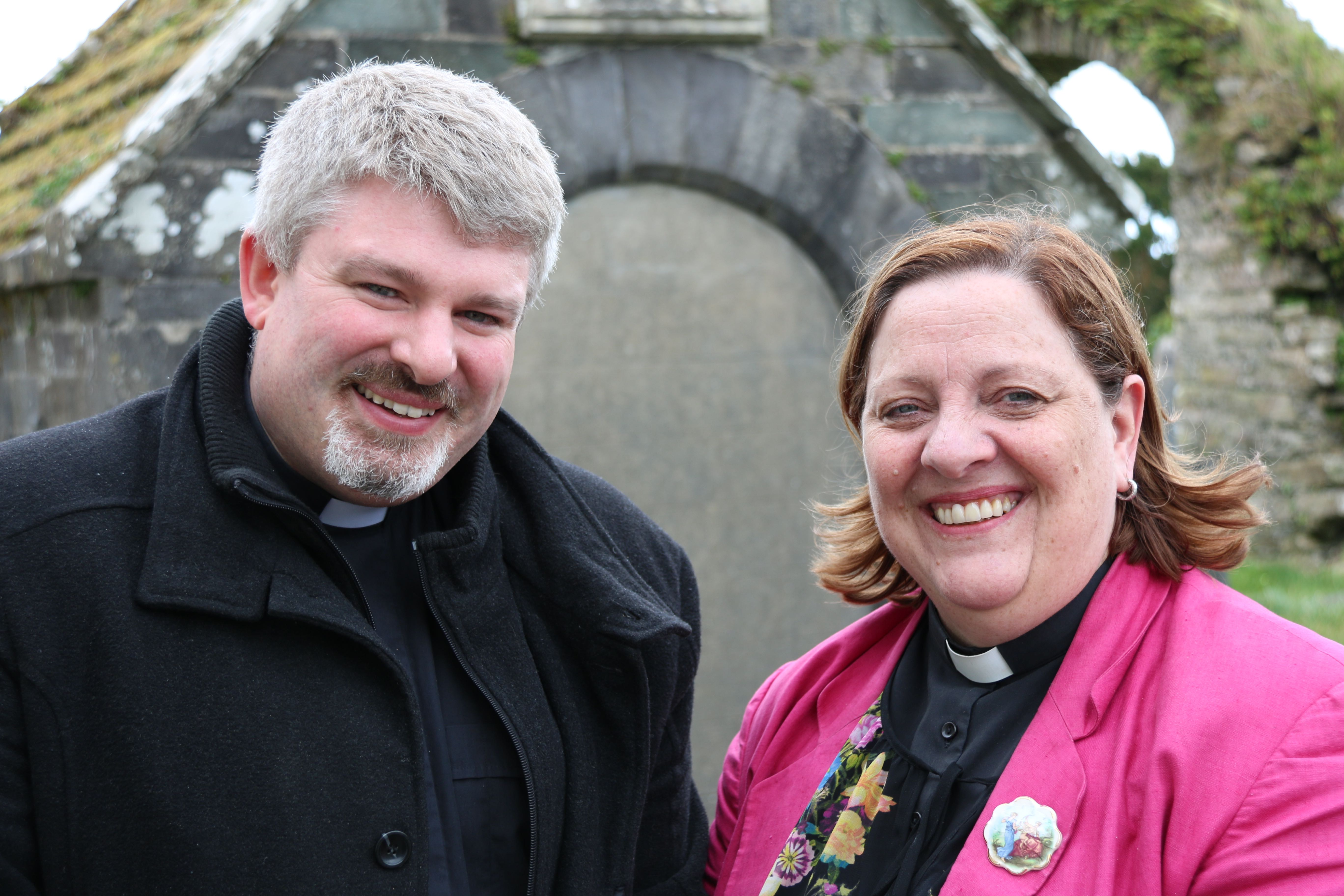 The Reverend John Ardis and the Reverend Elaine Murray, Domestic Chaplains to the Bishop