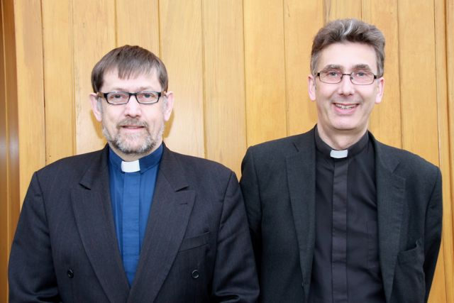 The Bishop's Examining Chaplains are (l-r) the Reverend Bruce Pierce and the Very Reverend Nigel Dunne.